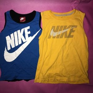 NIKE Tank Tops size 5/6 youth 💙💛